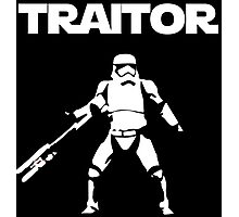Star Wars TRAITOR (Star Wars font) Photographic Print