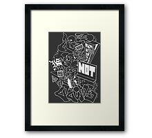 CRIME (WHITE) Framed Print