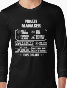 AWESOME PROJECT MANAGER shirt Long Sleeve T-Shirt