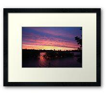 Sunset over Rathluba 2 Framed Print