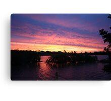 Sunset over Rathluba 2 Canvas Print