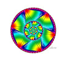 sdd Pythagorean Equation Mandala Fractal 60KR by mandalafractal