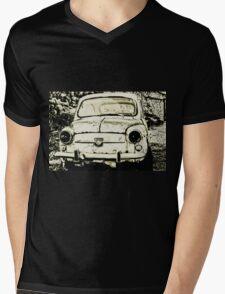 Abandoned Car Vintage Mens V-Neck T-Shirt