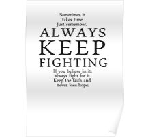 Always Keep Fighting Script Poster