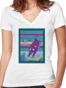 Luna2020 Women's Fitted V-Neck T-Shirt