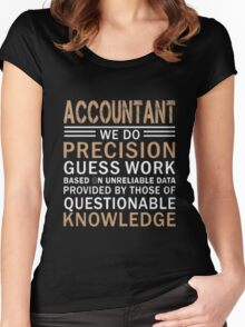 Accountant Women's Fitted Scoop T-Shirt