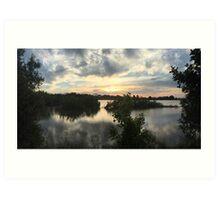Sunset over Rathluba 6 Art Print