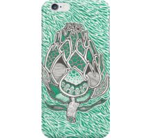 Green Artichoke with background iPhone Case/Skin