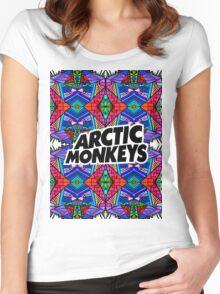 Arctic Monkeys - Trippy Pattern 3 Women's Fitted Scoop T-Shirt