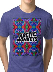 Arctic Monkeys - Trippy Pattern 3 Tri-blend T-Shirt