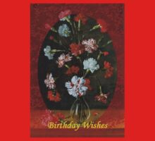 Birthday Wishes - Vintage Carnations In A Glass Vase Kids Clothes