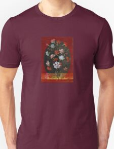 Birthday Wishes - Vintage Carnations In A Glass Vase T-Shirt