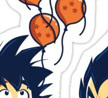 Funny Goku & Vegeta - Crystal Balloons Tshirt & Hoodie Sticker