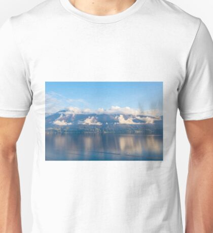 Alpine lake with mountains Unisex T-Shirt