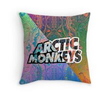 Arctic Monkeys - Colorful Pattern 1 Throw Pillow