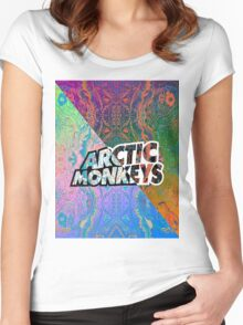 Arctic Monkeys - Colorful Pattern 1 Women's Fitted Scoop T-Shirt