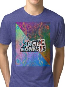 Arctic Monkeys - Colorful Pattern 1 Tri-blend T-Shirt