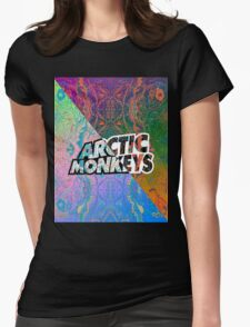 Arctic Monkeys - Colorful Pattern 1 Womens Fitted T-Shirt