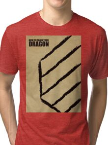 How To Train Your Dragon - Minimal Poster Tri-blend T-Shirt