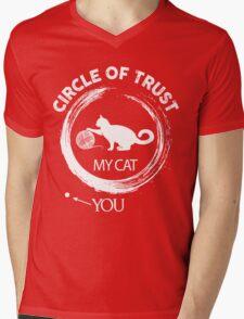 Circle of trust my cat Mens V-Neck T-Shirt
