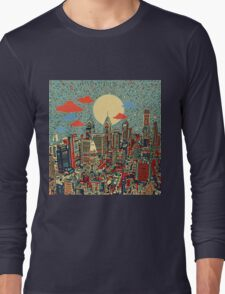 philadelphia panorama 3 Long Sleeve T-Shirt