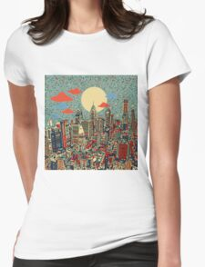 philadelphia panorama 3 Womens Fitted T-Shirt