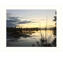Sunset over Rathluba 9 Art Print