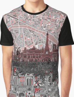 paris skyline abstract 7 Graphic T-Shirt