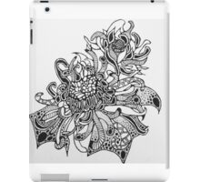 Fire Flower (Black and White)  iPad Case/Skin