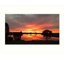 Sunset over Rathluba 10 Art Print