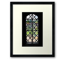 AA18 Ancient Glass Framed Print