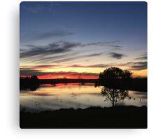 Sunset over Rathluba 11 Canvas Print