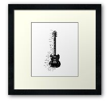 Minecraft Rock Guitar Framed Print