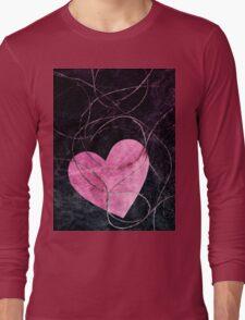 Heart grunge Long Sleeve T-Shirt