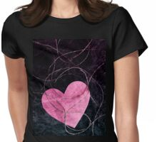 Heart grunge Womens Fitted T-Shirt