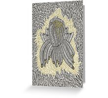 Black and Gold  Greeting Card