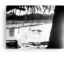 Reflections, Surfboards & Low Tide : Main Beach, Noosa Canvas Print