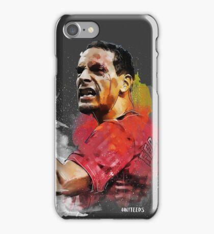 Rio ferdinand - MUFC _ fan art painting iPhone Case/Skin