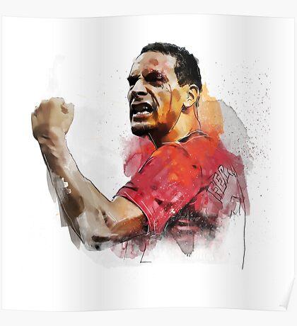 Rio ferdinand - MUFC _ fan art painting Poster