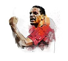 Rio ferdinand - MUFC _ fan art painting Photographic Print