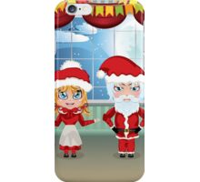 Santa and Mrs Claus in the House 2 iPhone Case/Skin