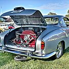 Silver Karmann Ghia rear view at Volksfest by Ferenghi