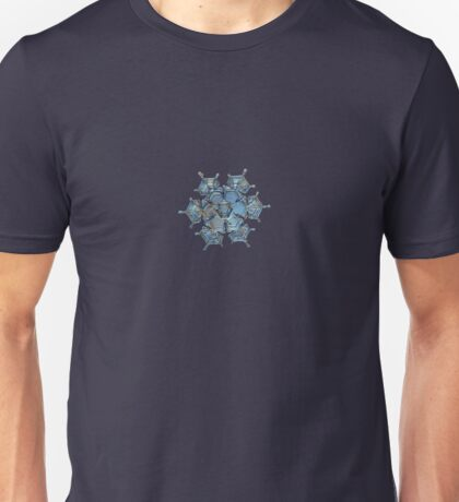 Flying castle, real snowflake macro photo Unisex T-Shirt
