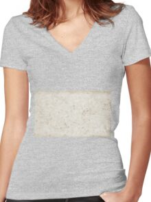 Paper texture macro flat Women's Fitted V-Neck T-Shirt