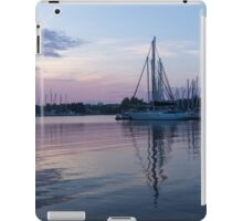 Soft Purple Ripples - Yachts and Clouds Reflections iPad Case/Skin