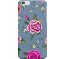 Anemone and Rose Bouquet iPhone Case/Skin