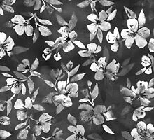 Blossoms on Charcoal Ink by micklyn