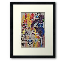 Abstract Mural Framed Print