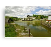 The Harbour With No Boats, Pentewan Canvas Print