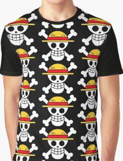 Luffy- Straw Hat Pirates Flag Graphic T-Shirt